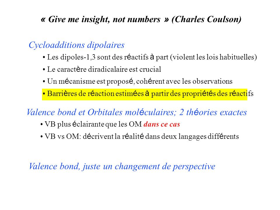 « Give me insight, not numbers » (Charles Coulson)