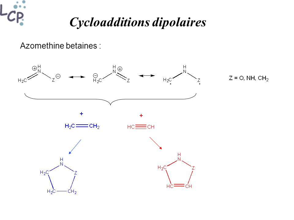 Cycloadditions dipolaires