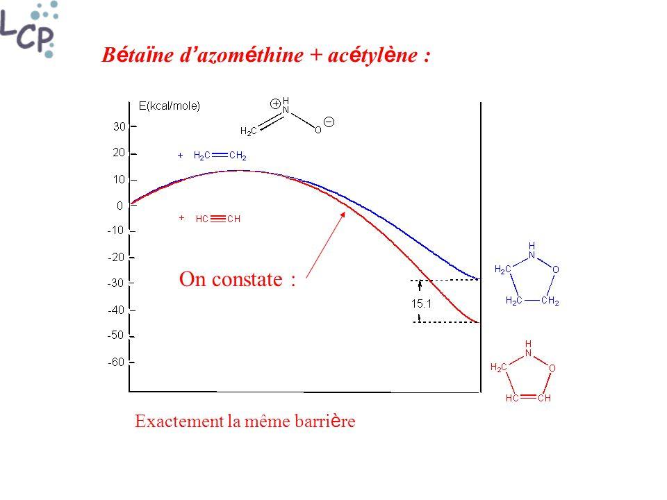 Bétaïne d'azométhine + acétylène :