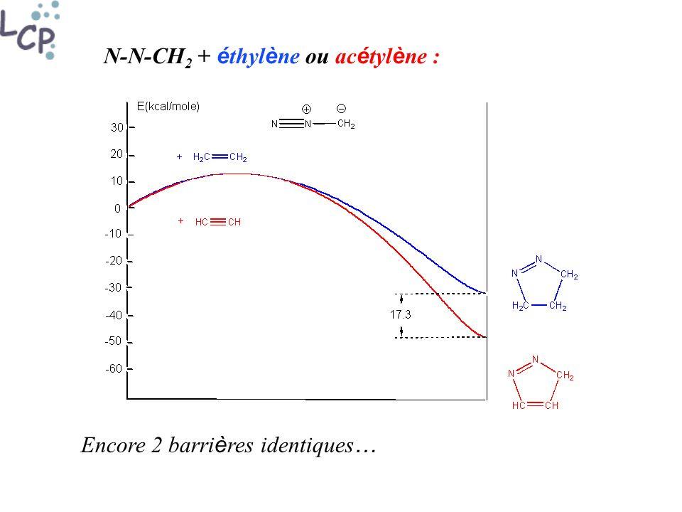N-N-CH2 + éthylène ou acétylène :