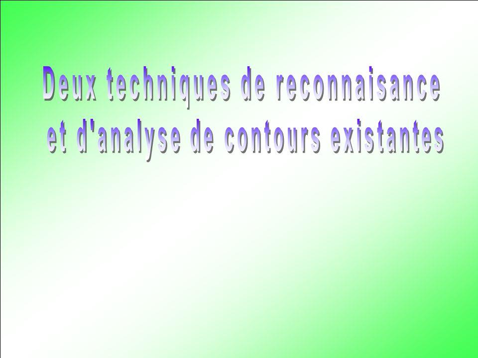 Deux techniques de reconnaisance et d analyse de contours existantes