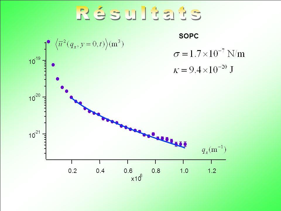 Résultats SOPC 10 -21 -20 -19 1.2 1.0 0.8 0.6 0.4 0.2 x10 6