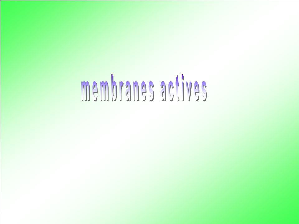 membranes actives