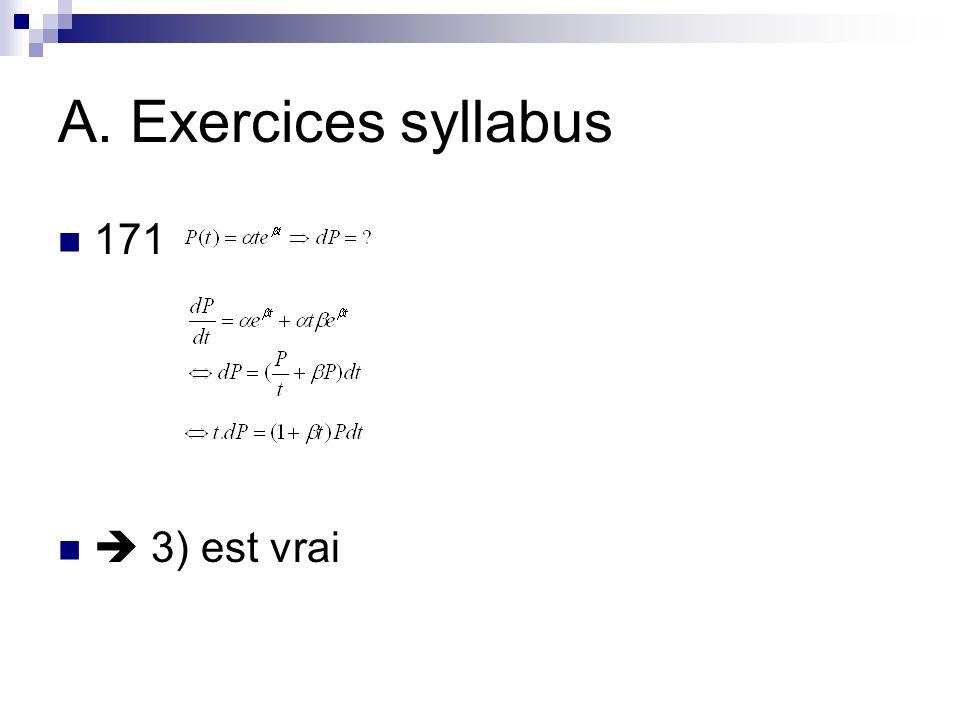A. Exercices syllabus 171  3) est vrai