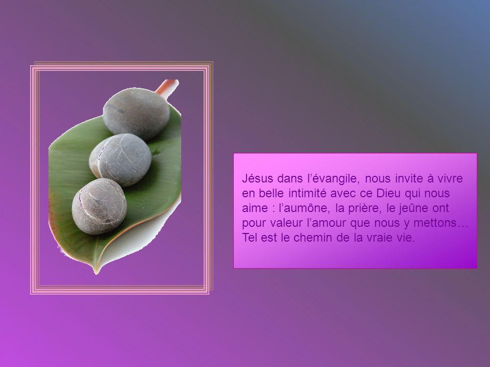 Jésus dans l'évangile, nous invite à vivre
