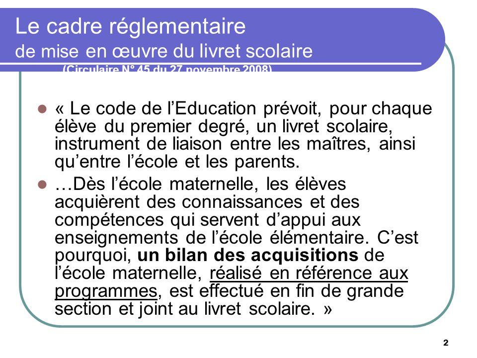 Le cadre réglementaire de mise en œuvre du livret scolaire