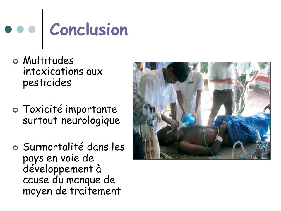 Conclusion Multitudes intoxications aux pesticides