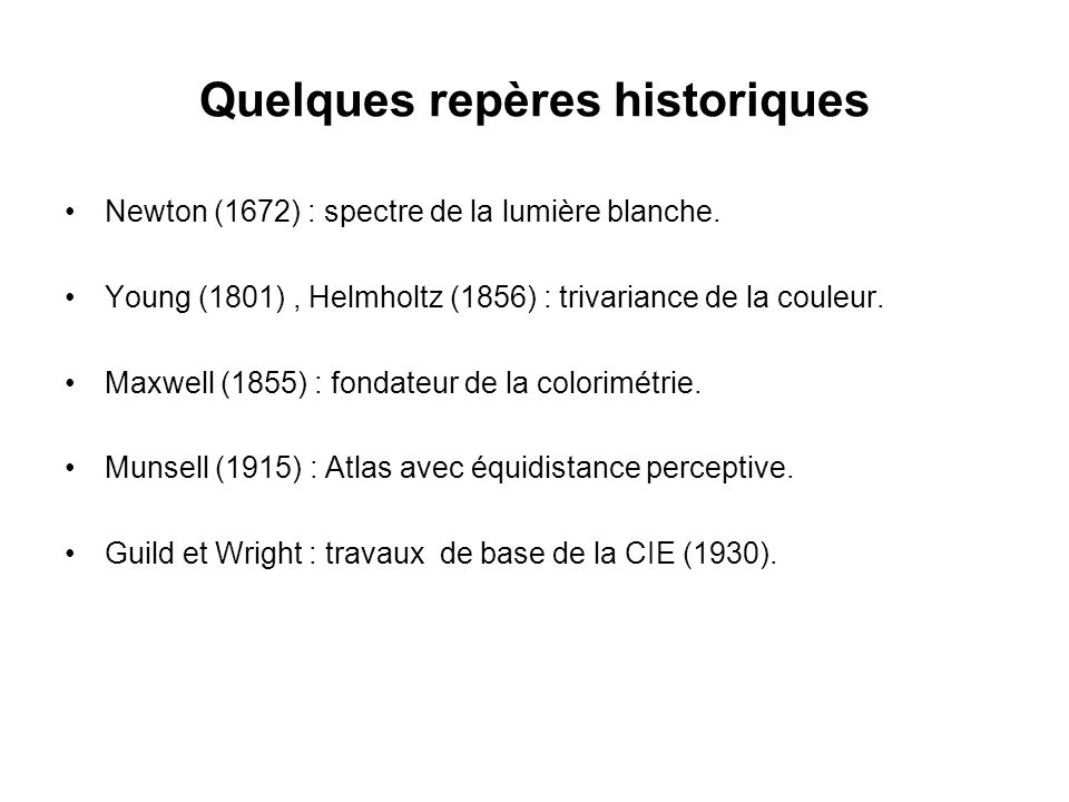 Quelques repères historiques