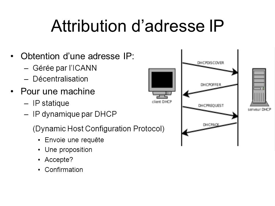 Attribution d'adresse IP