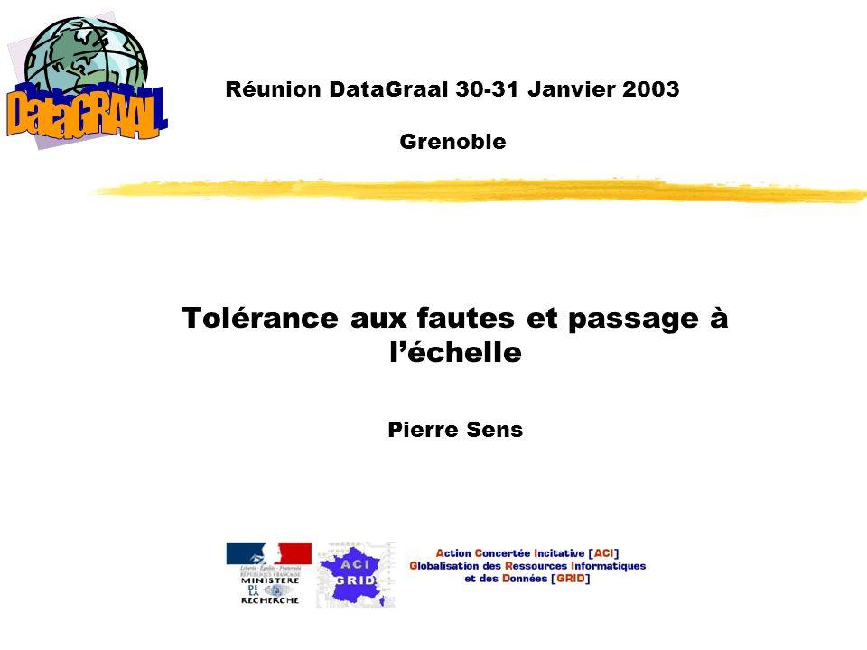Réunion DataGraal 30-31 Janvier 2003 Grenoble