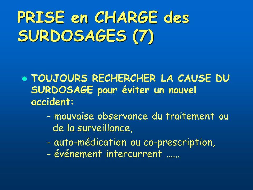 PRISE en CHARGE des SURDOSAGES (7)