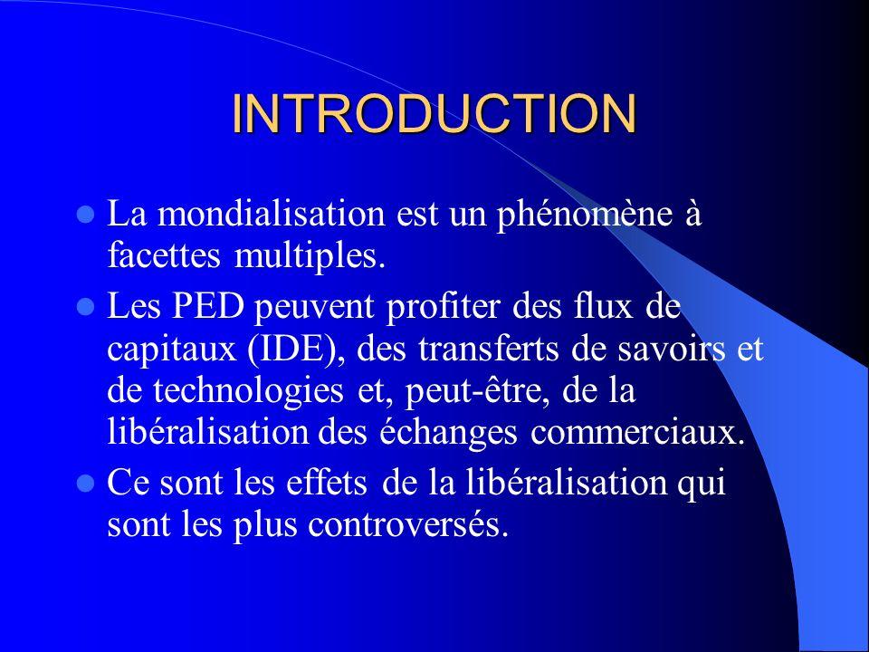 INTRODUCTION La mondialisation est un phénomène à facettes multiples.