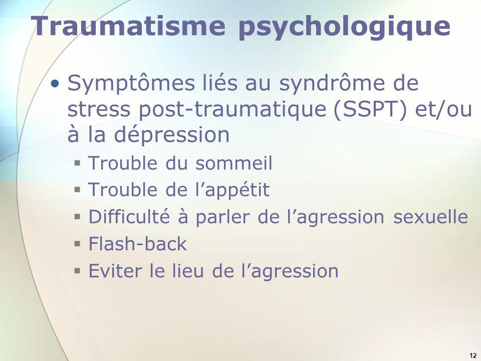 Traumatisme psychologique