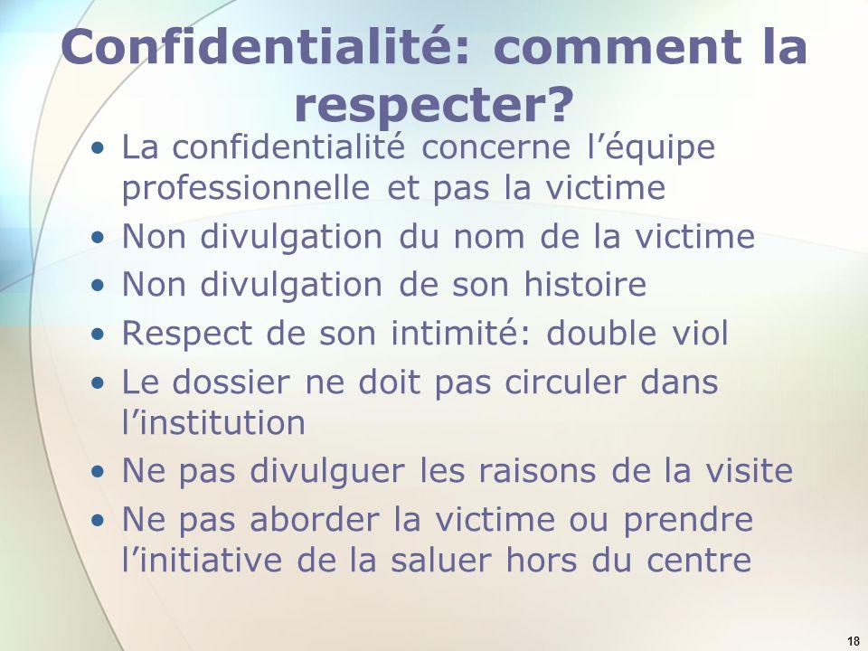 Confidentialité: comment la respecter