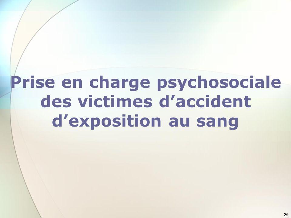 Prise en charge psychosociale des victimes d'accident d'exposition au sang