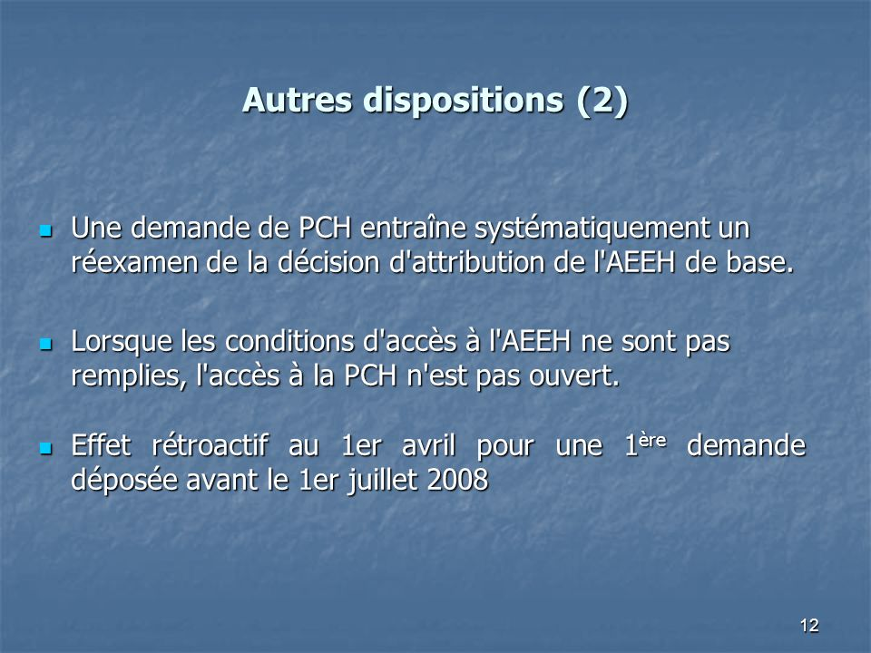 Autres dispositions (2)