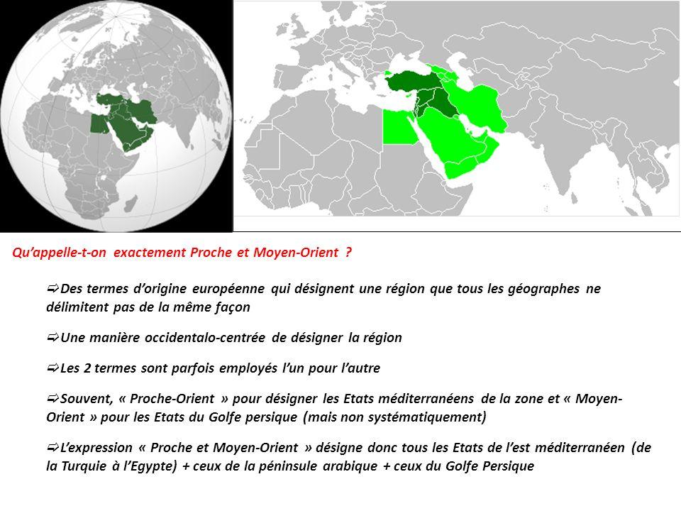 Qu'appelle-t-on exactement Proche et Moyen-Orient