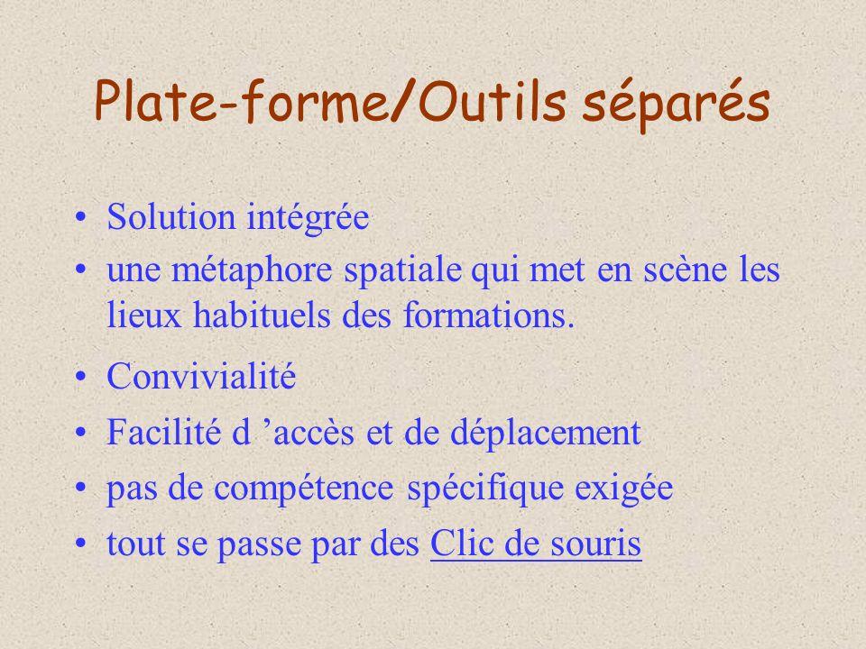 Plate-forme/Outils séparés