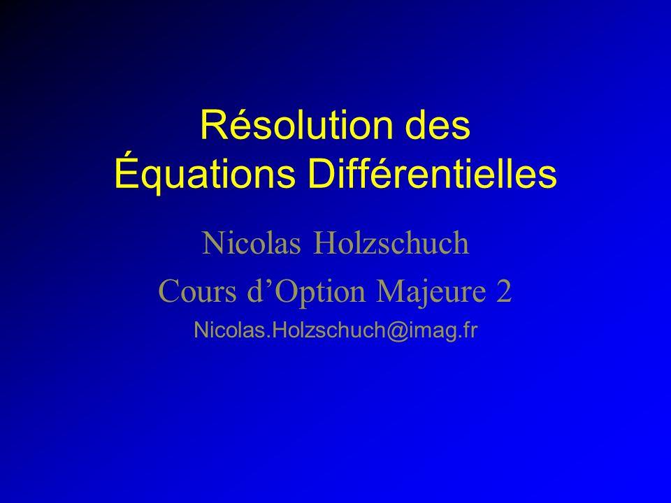 Résolution des Équations Différentielles