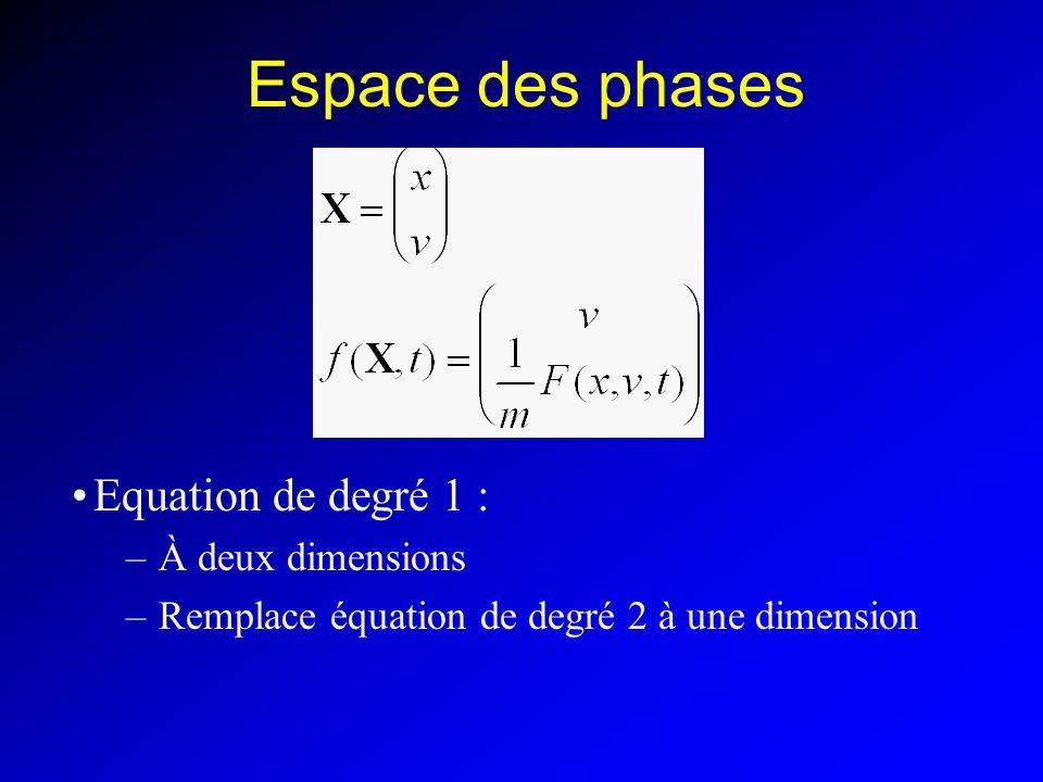 Espace des phases Equation de degré 1 : À deux dimensions