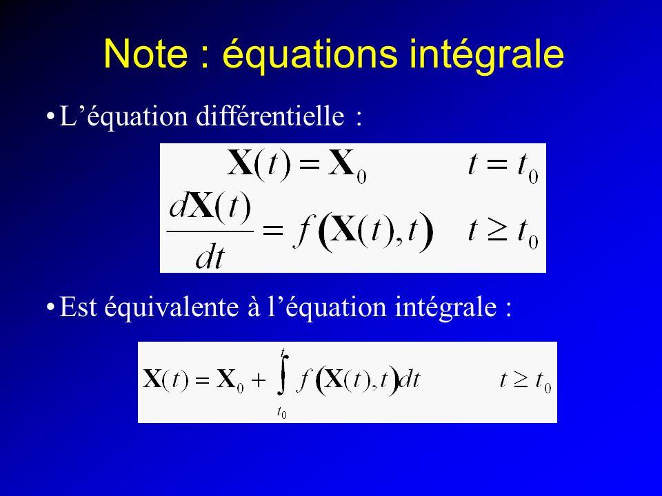 Note : équations intégrale