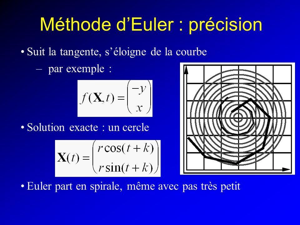 Méthode d'Euler : précision