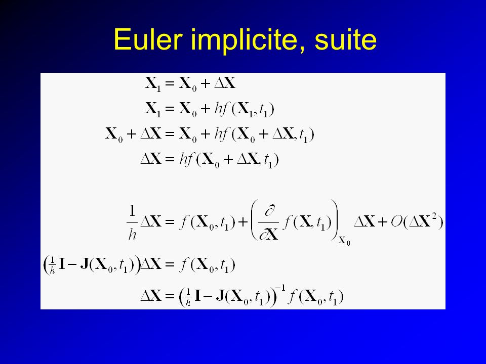 Euler implicite, suite