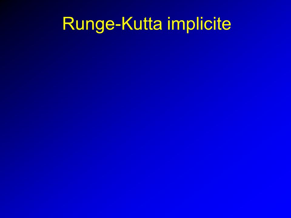 Runge-Kutta implicite