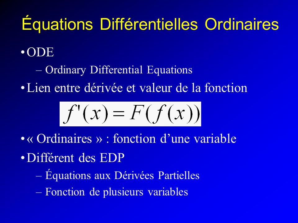 Équations Différentielles Ordinaires