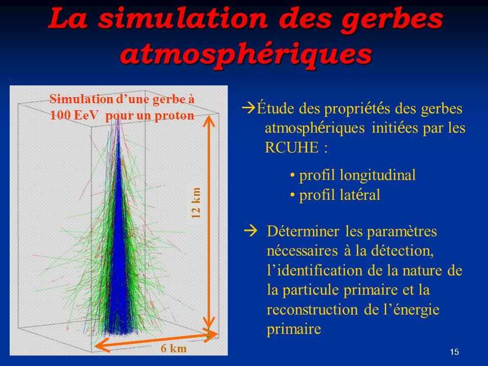 La simulation des gerbes atmosphériques