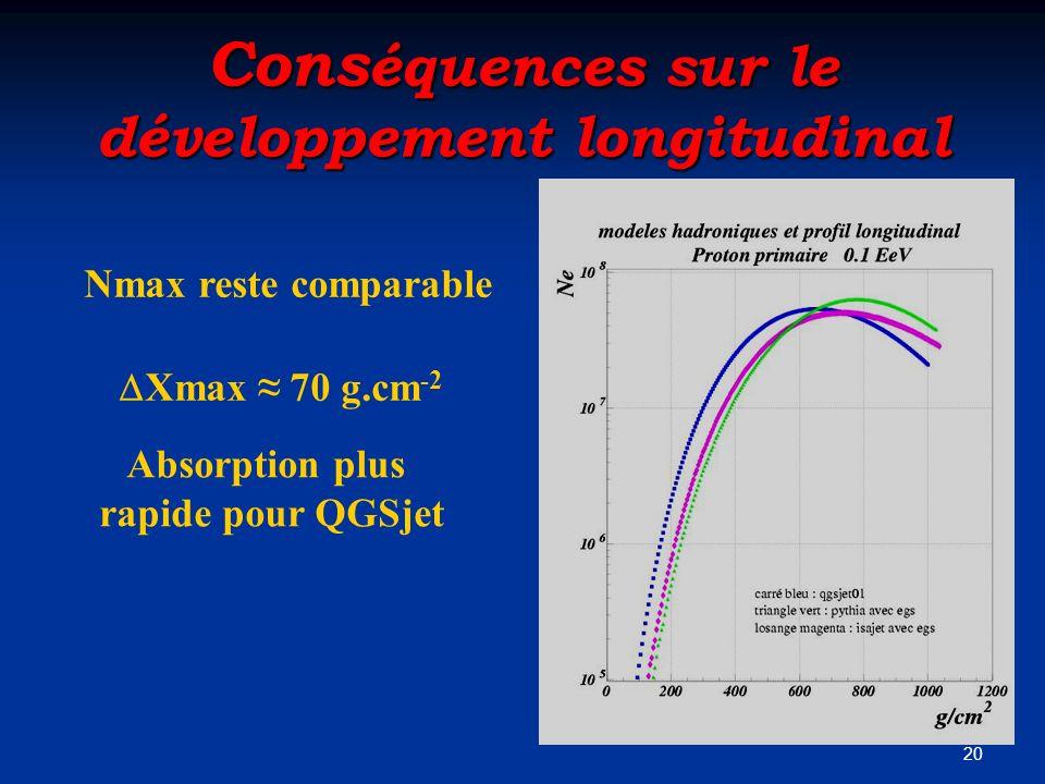 Conséquences sur le développement longitudinal