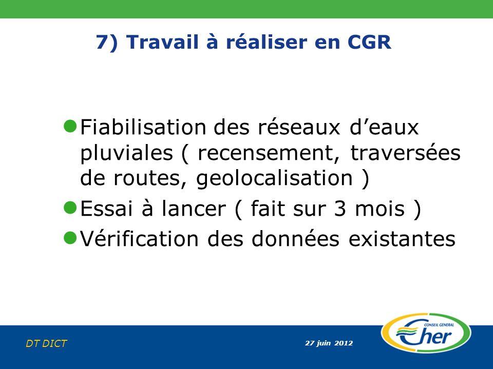 7) Travail à réaliser en CGR