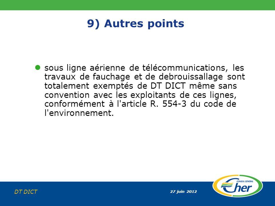 9) Autres points