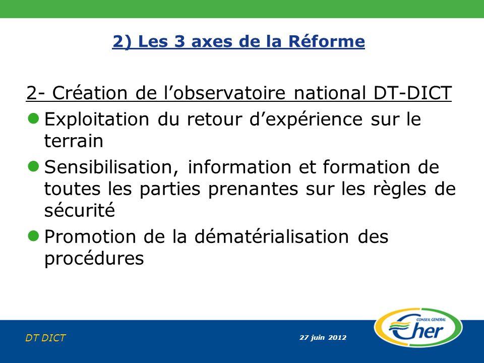 2- Création de l'observatoire national DT-DICT