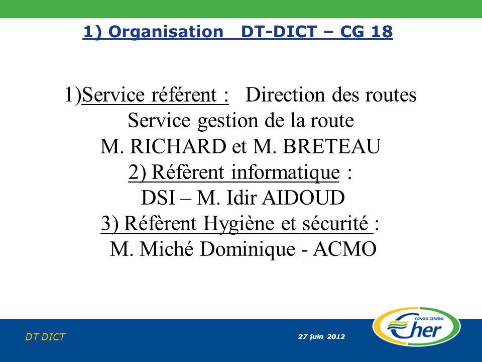 1) Organisation DT-DICT – CG 18