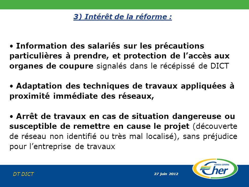 3) Intérêt de la réforme :
