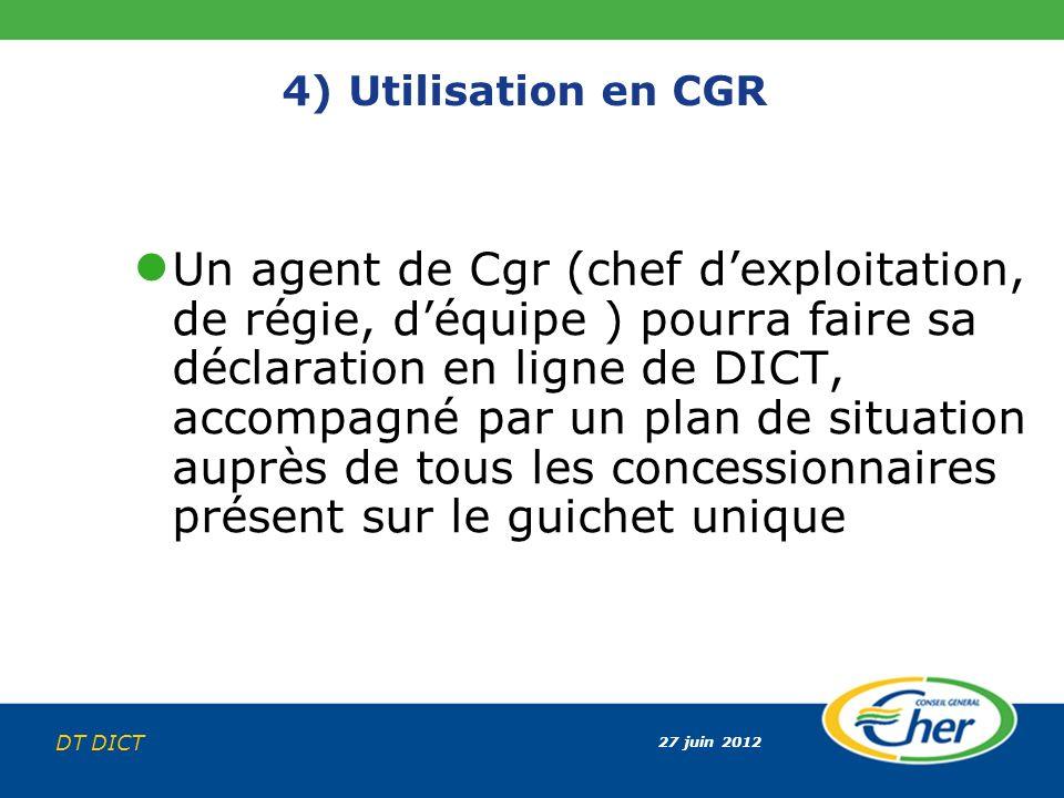 4) Utilisation en CGR