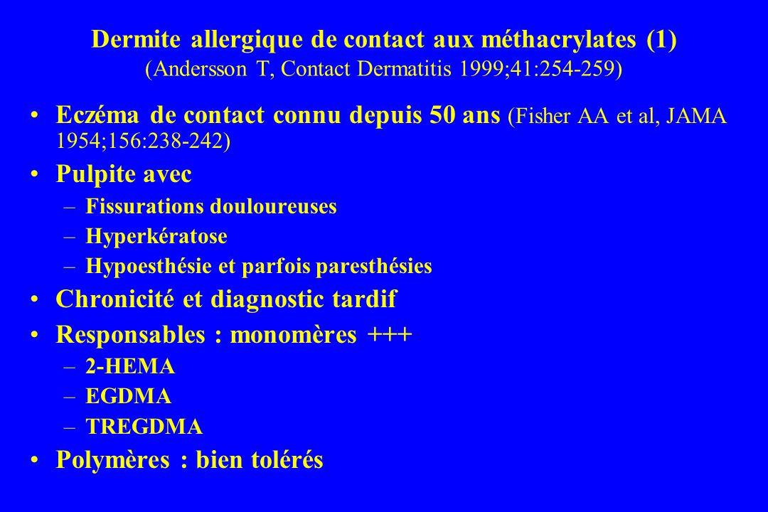 Chronicité et diagnostic tardif Responsables : monomères +++