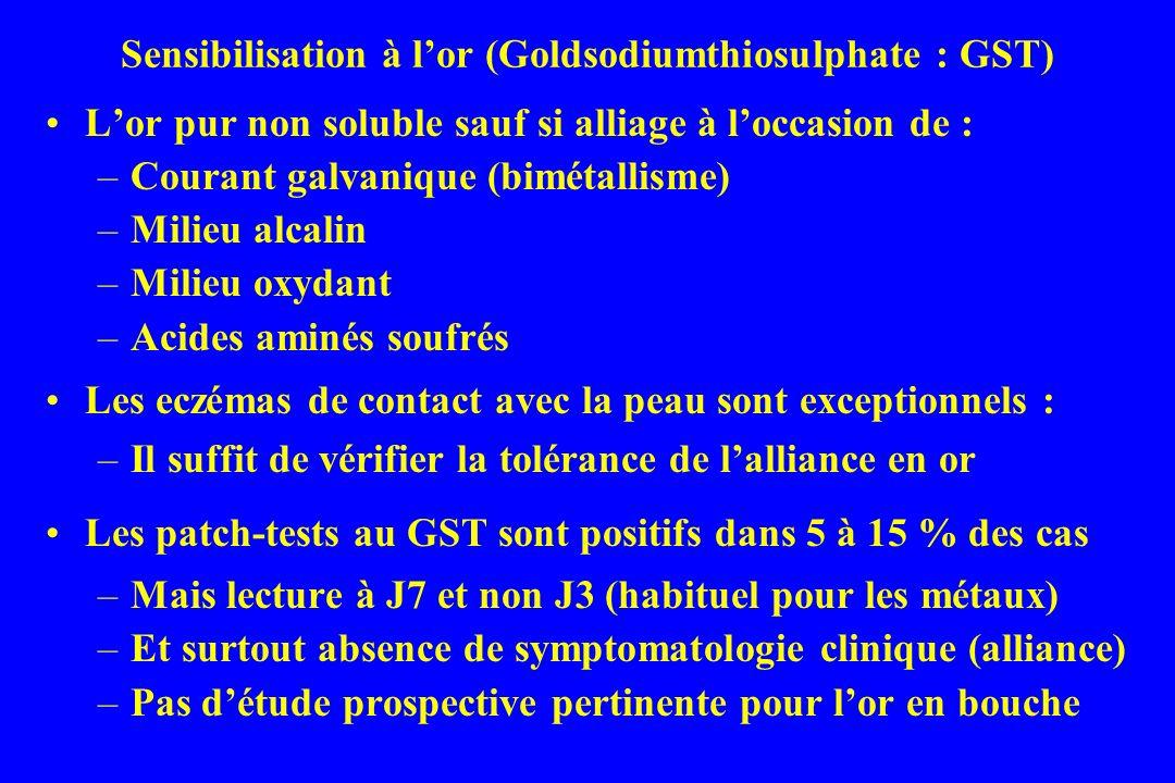 Sensibilisation à l'or (Goldsodiumthiosulphate : GST)