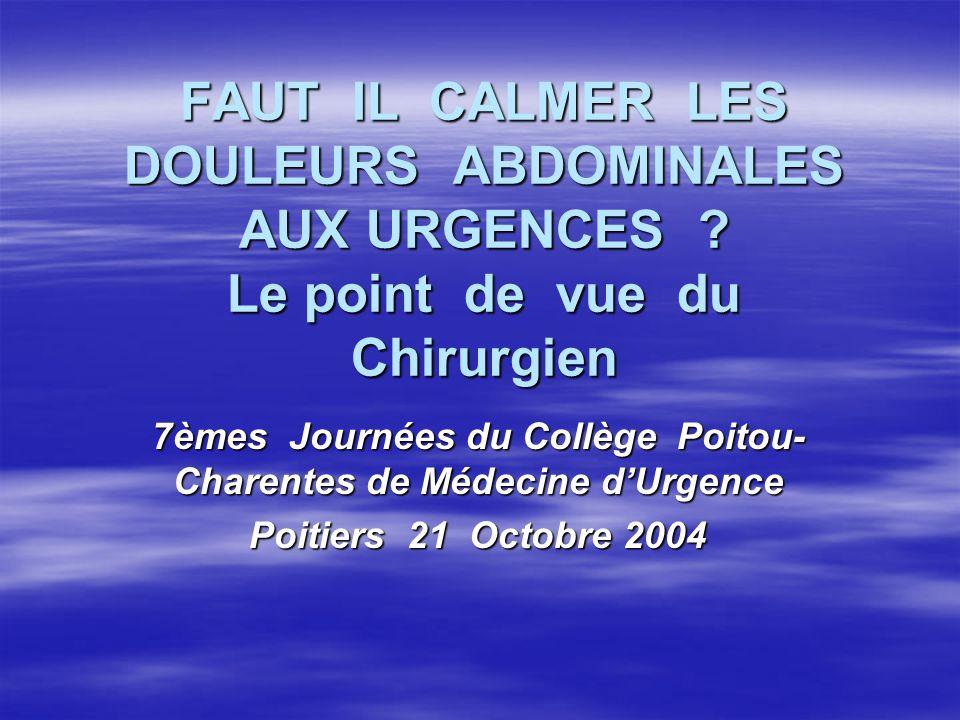7èmes Journées du Collège Poitou-Charentes de Médecine d'Urgence