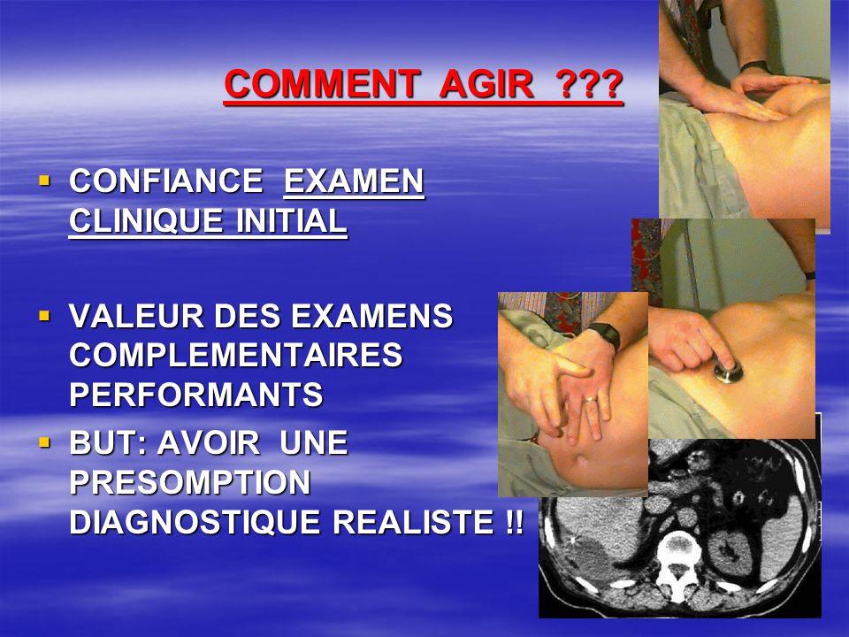 COMMENT AGIR CONFIANCE EXAMEN CLINIQUE INITIAL