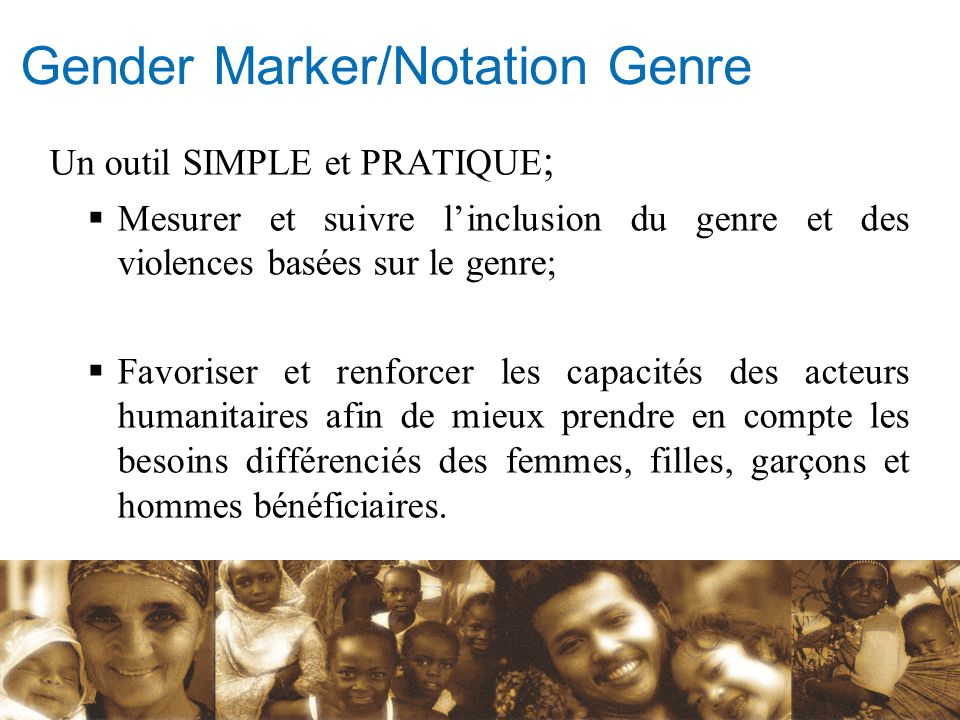 Gender Marker/Notation Genre