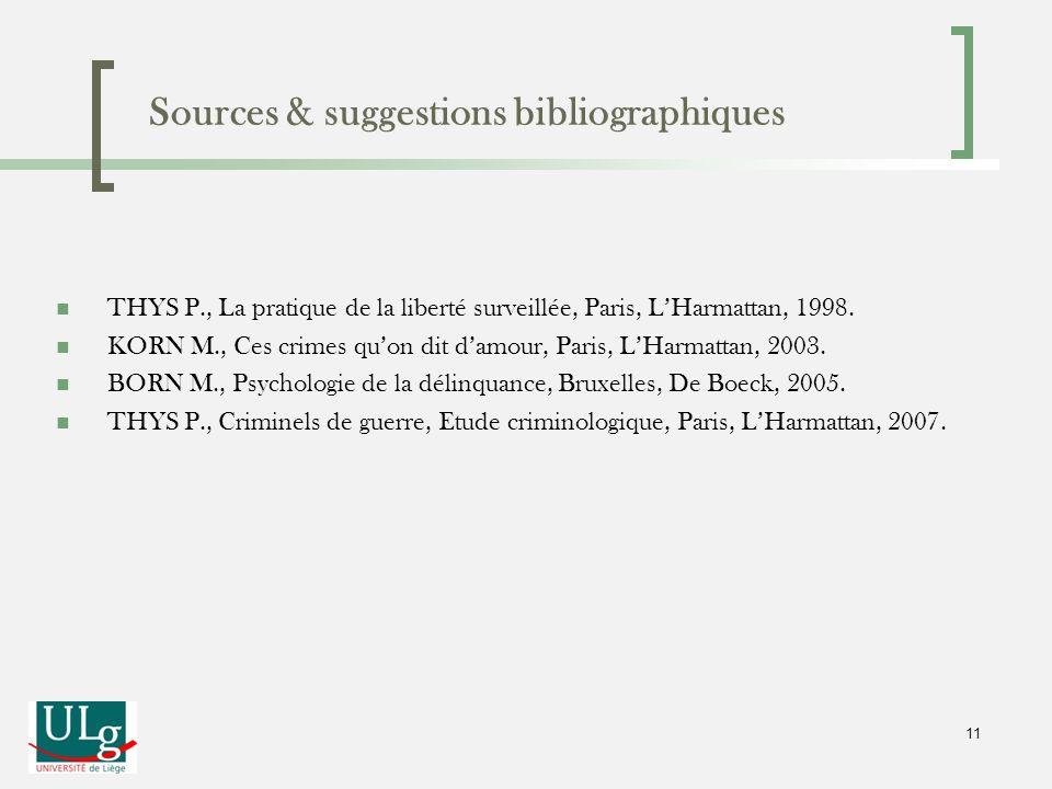Sources & suggestions bibliographiques