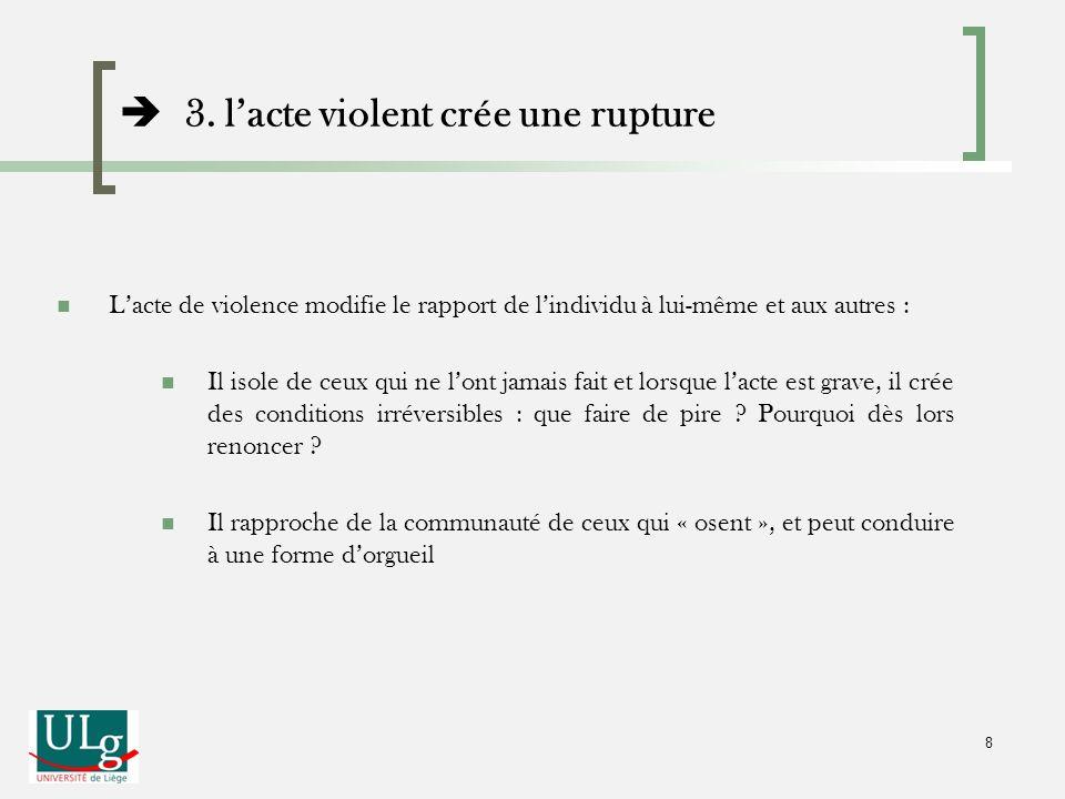  3. l'acte violent crée une rupture