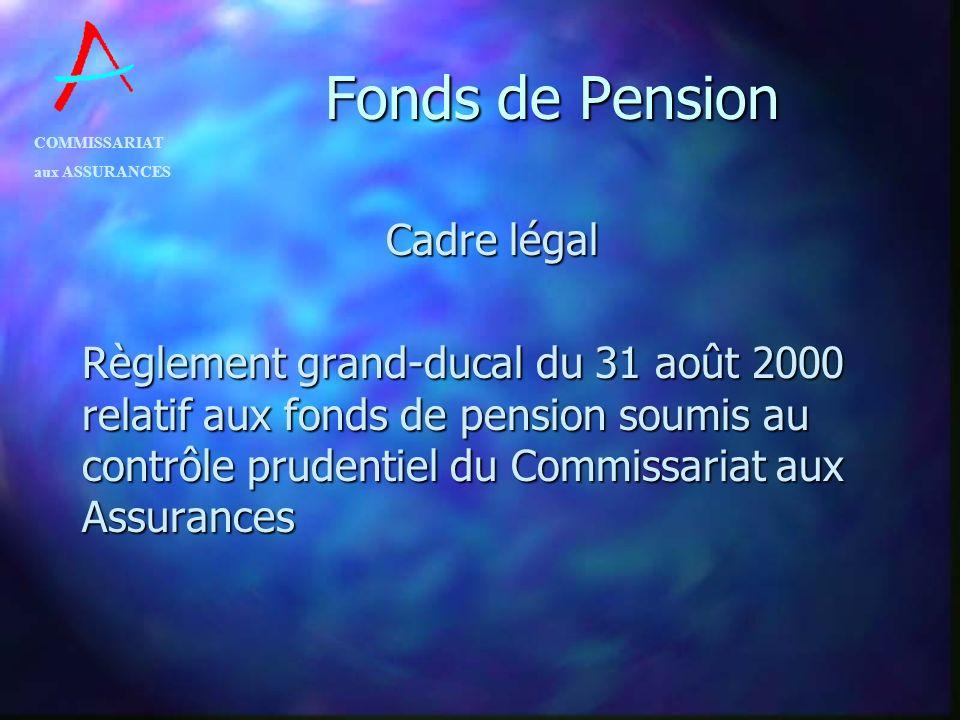 Fonds de Pension Cadre légal