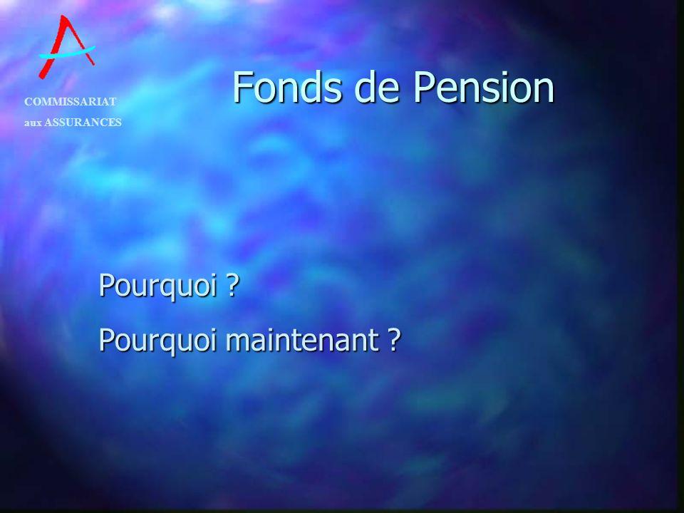 Fonds de Pension Pourquoi Pourquoi maintenant