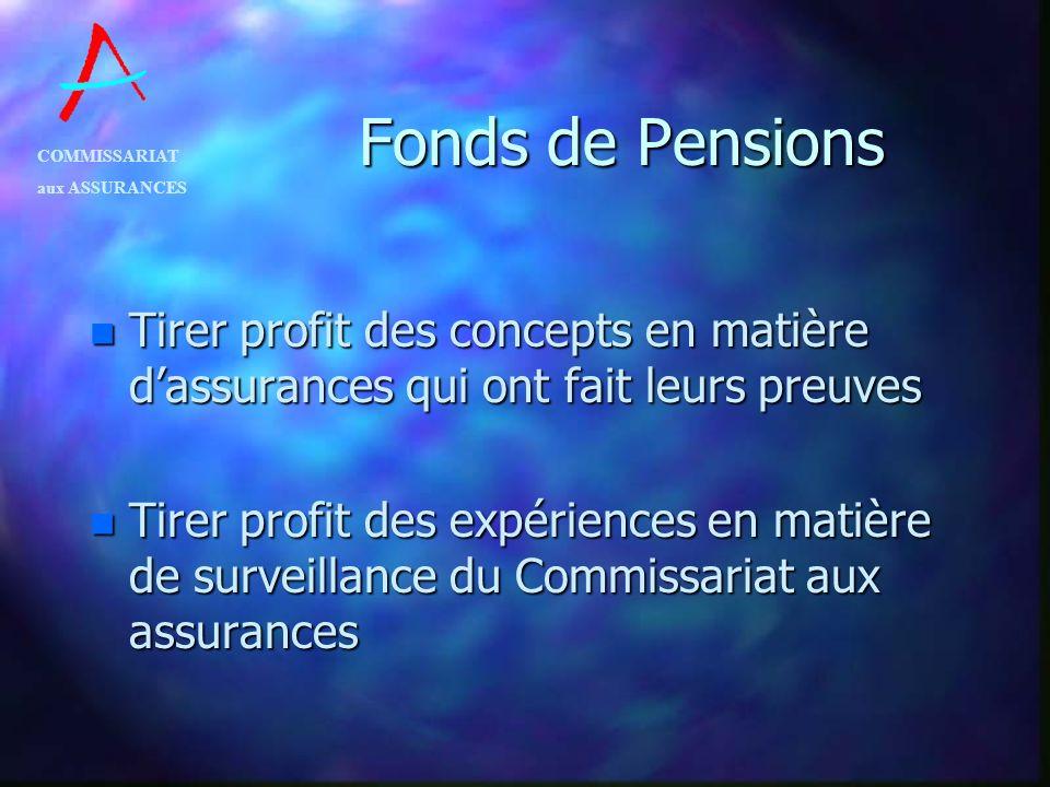 Fonds de Pensions Tirer profit des concepts en matière d'assurances qui ont fait leurs preuves.