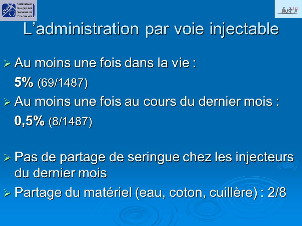 L'administration par voie injectable