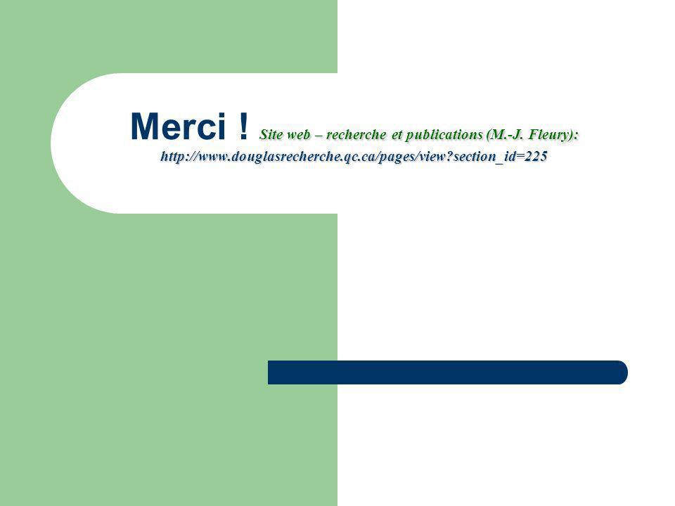 Merci . Site web – recherche et publications (M.-J.