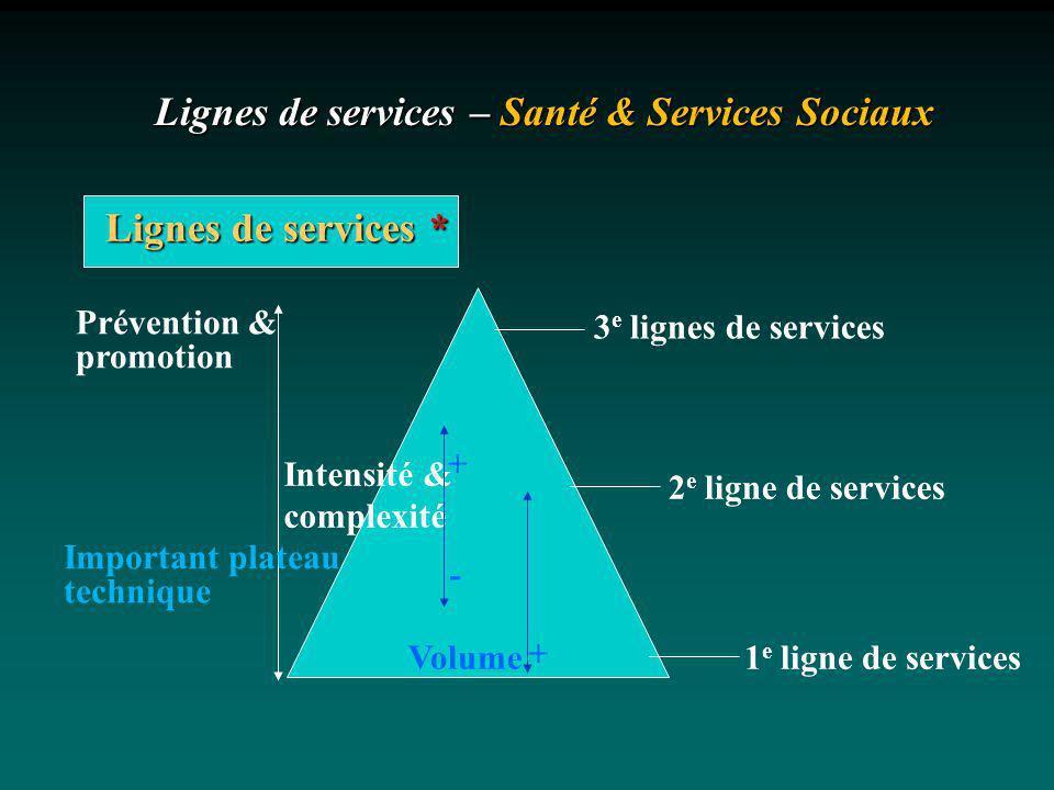 Lignes de services – Santé & Services Sociaux